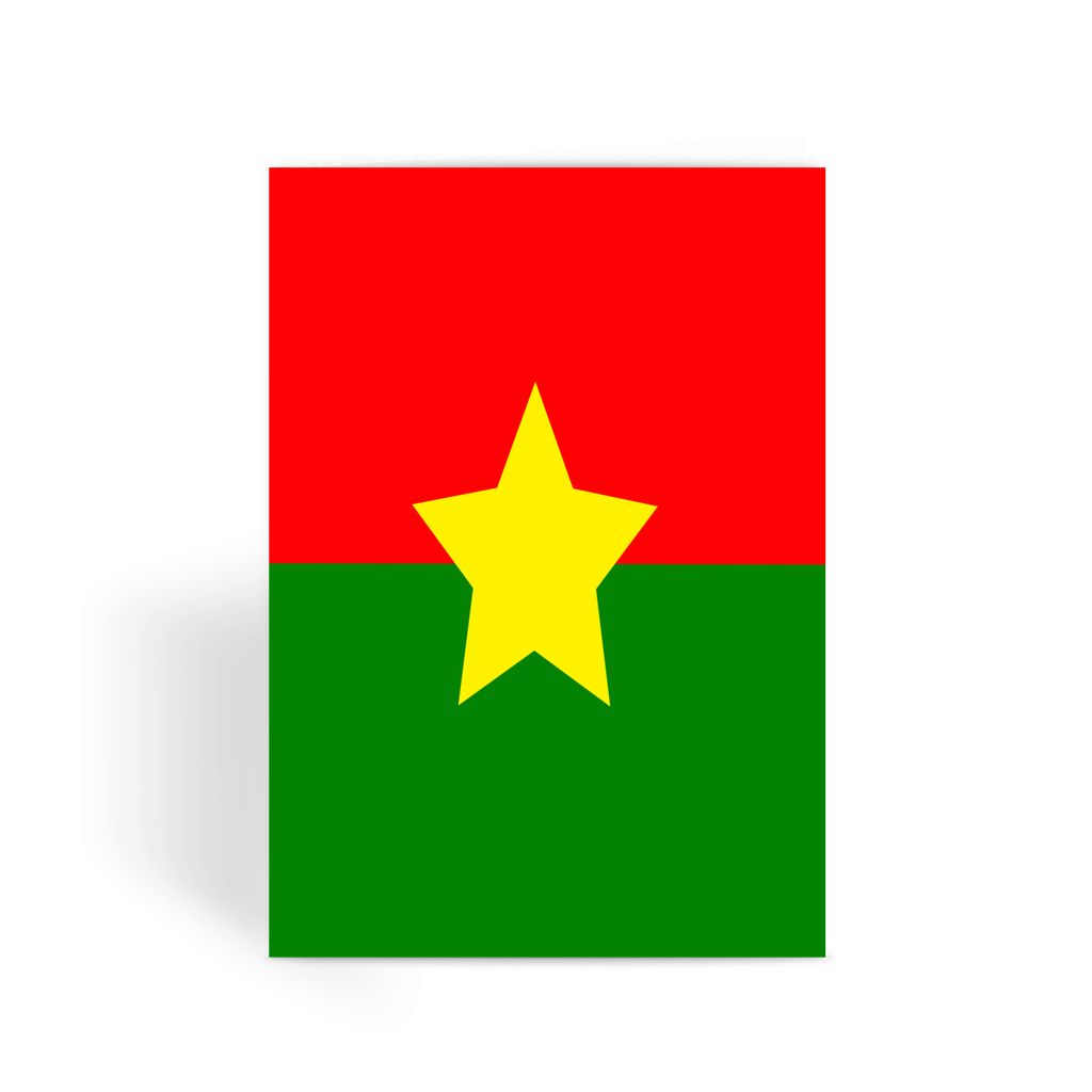 Flag Of Burkina Faso Greeting Card Prints Flagdesignproducts.com