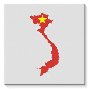 Vietnam Continent Flag Stretched Eco-Canvas Wall Decor Flagdesignproducts.com