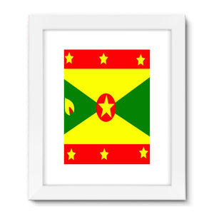 Flag Of Grenada Framed Fine Art Print Wall Decor Flagdesignproducts.com