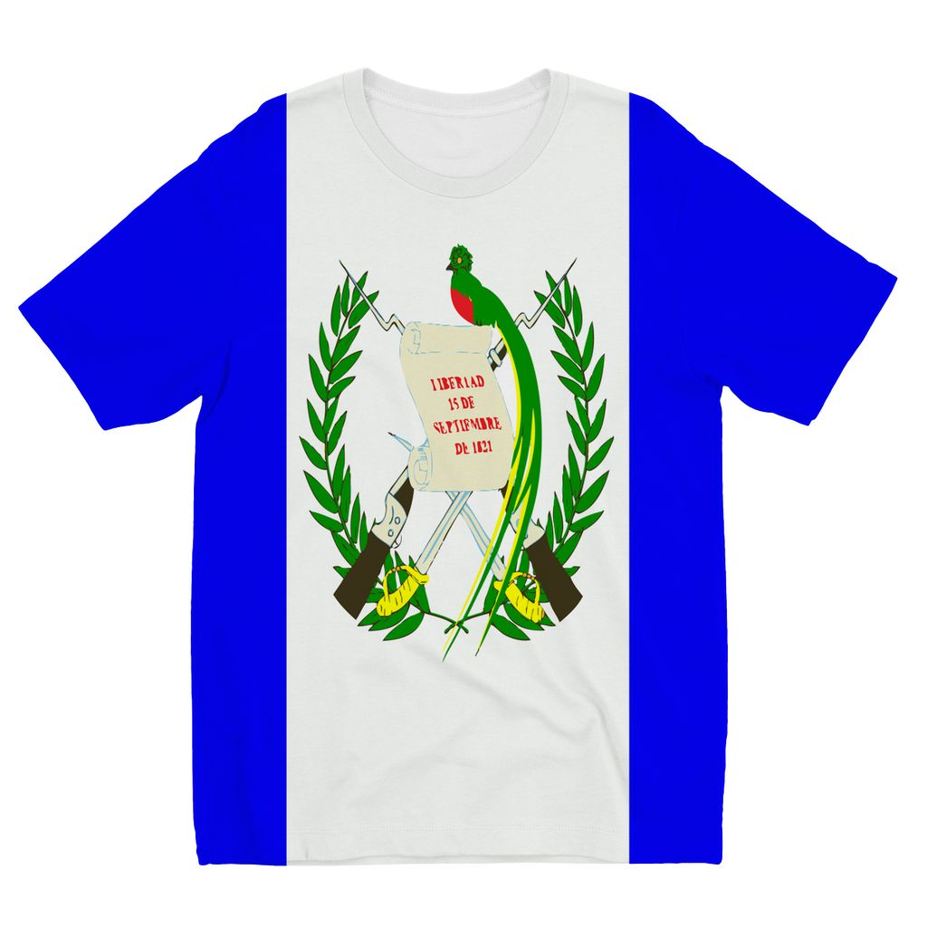 Flag Of Guatemala Kids Sublimation T-Shirt Apparel Flagdesignproducts.com