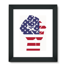 America First Hand Flag Framed Fine Art Print Wall Decor Flagdesignproducts.com