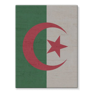 Algeria Stone Wall Flag Stretched Eco-Canvas Decor Flagdesignproducts.com