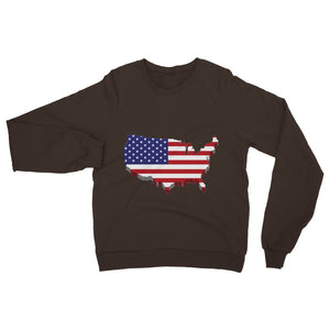 Usa Contient Flag Design Heavy Blend Crew Neck Sweatshirt Apparel Flagdesignproducts.com
