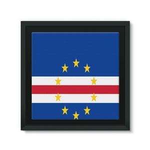 Flag Of Cape Verde Framed Canvas Wall Decor Flagdesignproducts.com