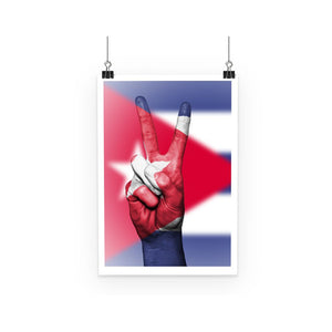 Cuba Flag And Hand Poster Wall Decor Flagdesignproducts.com