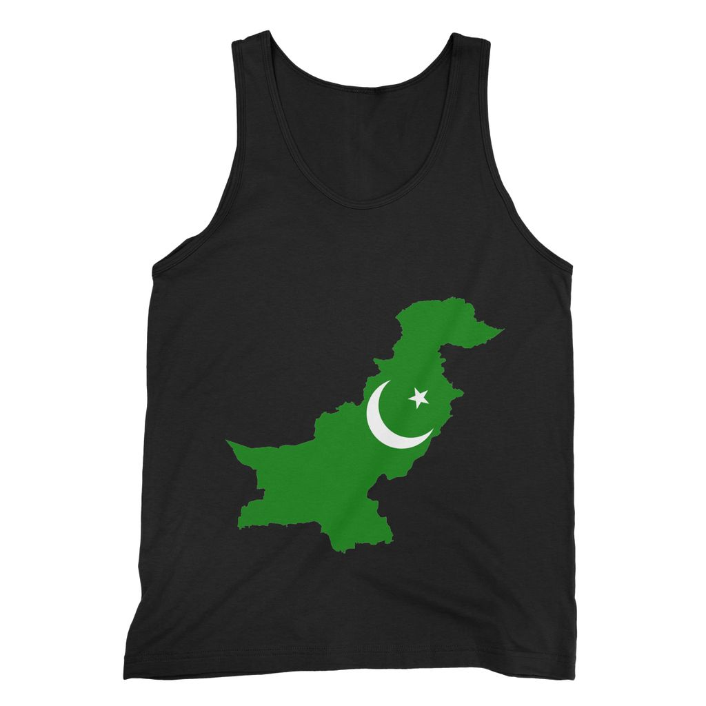 Pakistan Continent Flag Fine Jersey Tank Top Apparel Flagdesignproducts.com