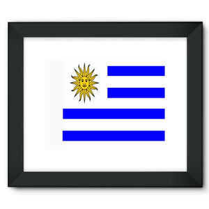Flag Of Uruguay Framed Fine Art Print Wall Decor Flagdesignproducts.com