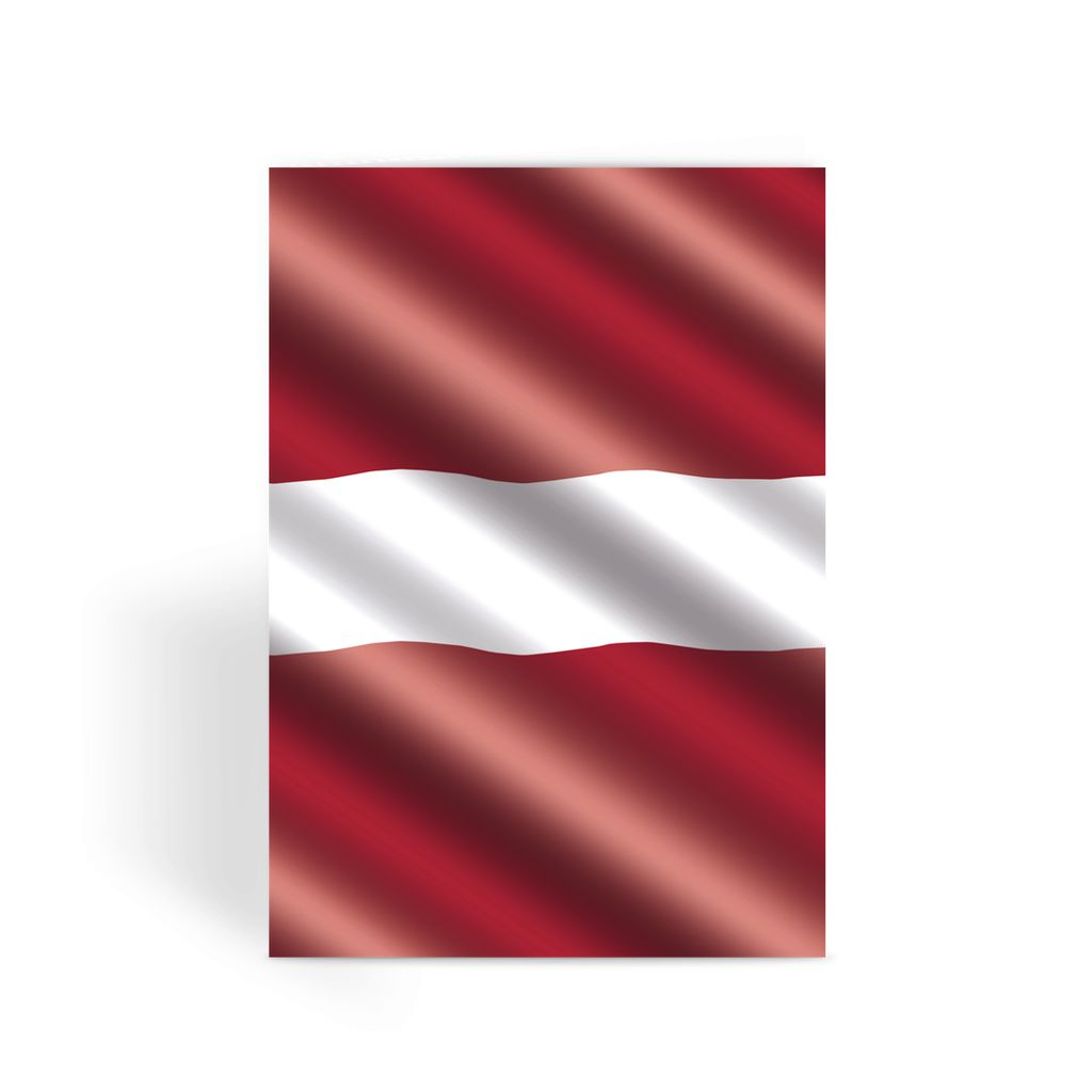 Waving Latvia Flag Greeting Card Prints Flagdesignproducts.com