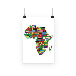 Africa Countries Flag Poster Wall Decor Flagdesignproducts.com