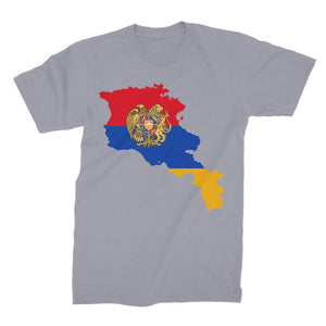 Armenia Continent Flag Unisex Fine Jersey T-Shirt Apparel Flagdesignproducts.com