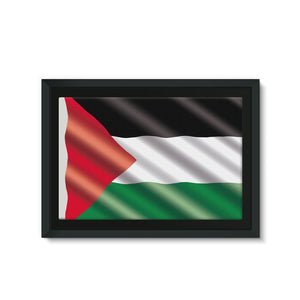 Waving Palestina Flag Framed Canvas Wall Decor Flagdesignproducts.com