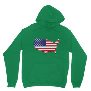 Usa Contient Flag Design Heavy Blend Hooded Sweatshirt Apparel Flagdesignproducts.com