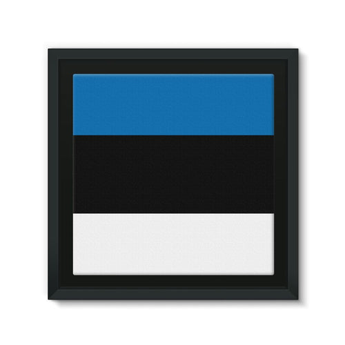 Basic Estonia Flag Framed Canvas Wall Decor Flagdesignproducts.com