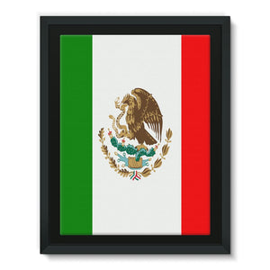 Flag Of Mexico Framed Eco-Canvas Wall Decor Flagdesignproducts.com