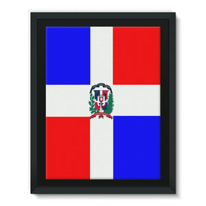 Flag Of Dominican Republic Framed Canvas Wall Decor Flagdesignproducts.com