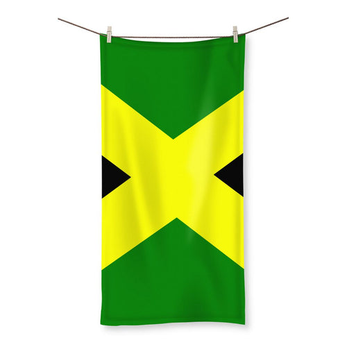 Flag Of Jamaica Beach Towel Homeware Flagdesignproducts.com