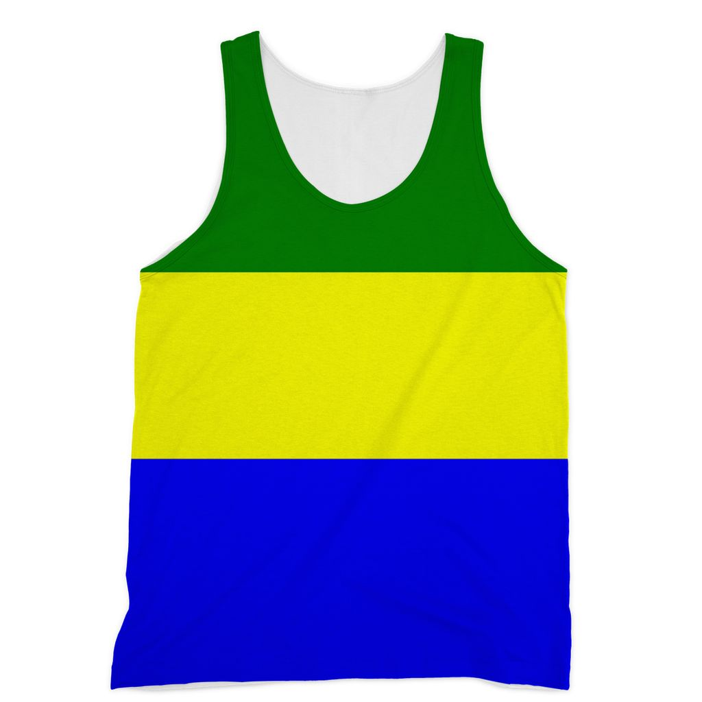 Flag Of Gabon Sublimation Vest Apparel Flagdesignproducts.com