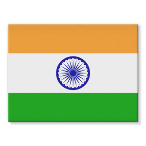 Basic India Flag Stretched Canvas Wall Decor Flagdesignproducts.com