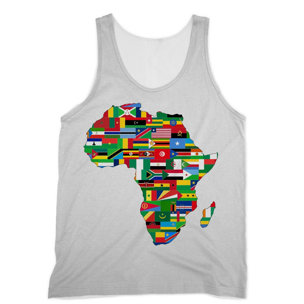 Africa Countries Flag Sublimation Vest Apparel Flagdesignproducts.com