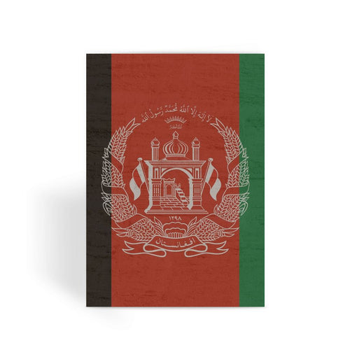 Afganistan Stone Wall Flag Greeting Card Prints Flagdesignproducts.com