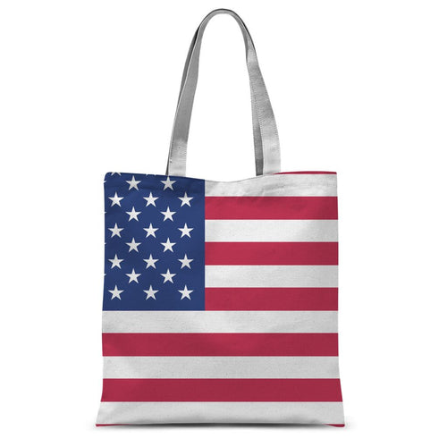 Basic Usa Flag Sublimation Tote Bag Accessories Flagdesignproducts.com