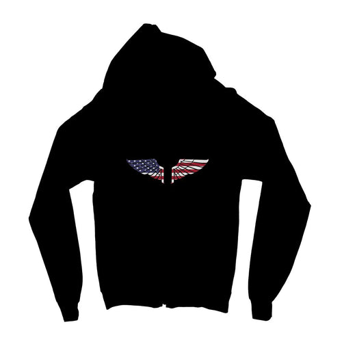 America Usa Wings Flag Kids Zip Hoodie Apparel Flagdesignproducts.com