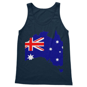 Australia Continent Flag Softstyle Tank Top Apparel Flagdesignproducts.com