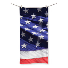 Waving America Usa Flag Beach Towel Homeware Flagdesignproducts.com