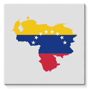 Venezuela Continent Flag Stretched Eco-Canvas Wall Decor Flagdesignproducts.com