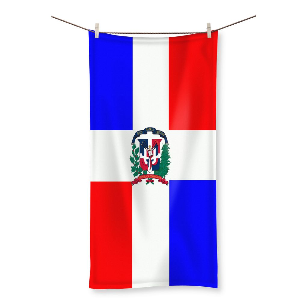 Flag Of Dominican Republic Beach Towel Homeware Flagdesignproducts.com