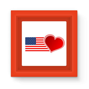 Usa Flag And Heart Magnet Frame Homeware Flagdesignproducts.com