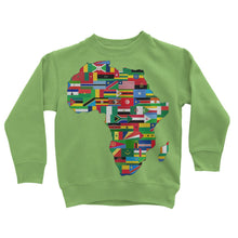 Africa Countries Flag Kids Sweatshirt Apparel Flagdesignproducts.com