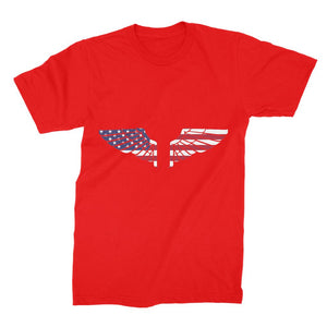 America Usa Wings Flag Unisex Fine Jersey T-Shirt Apparel Flagdesignproducts.com