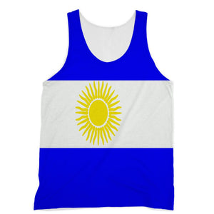 Flag Of Argentina Sublimation Vest Apparel Flagdesignproducts.com
