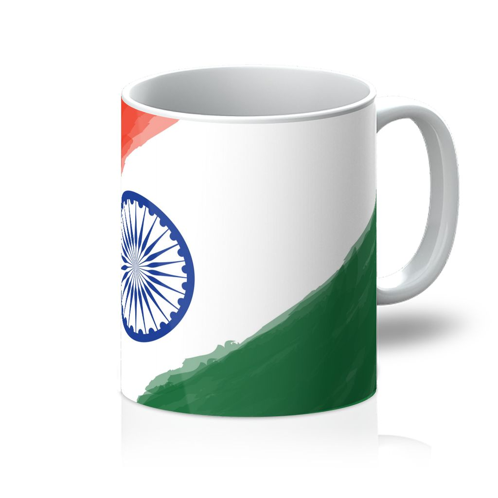 Watercolor India Flag Mug Homeware Flagdesignproducts.com