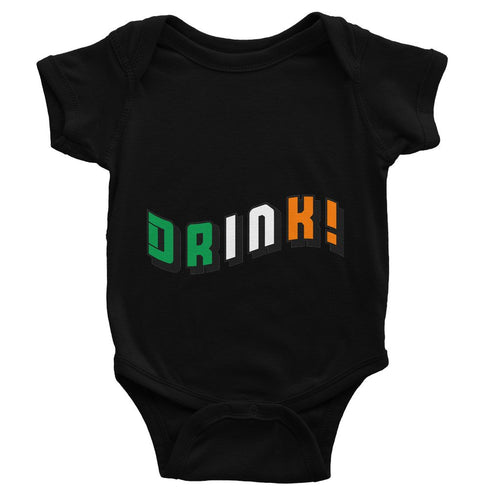 Drink Ireland Flag Text Baby Bodysuit Apparel Flagdesignproducts.com