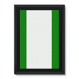 Flag Of Nigeria Framed Canvas Wall Decor Flagdesignproducts.com