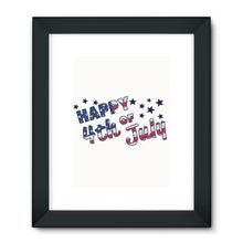 4Th July Usa Text Flag Framed Fine Art Print Wall Decor Flagdesignproducts.com