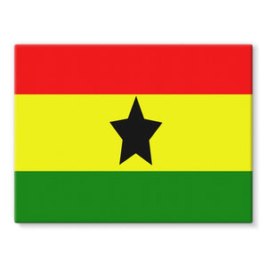 Flag Of Ghana Stretched Eco-Canvas Wall Decor Flagdesignproducts.com