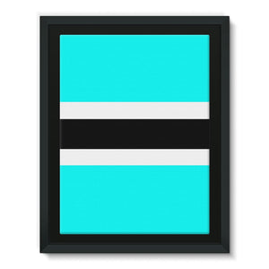 Flag Of Botswana Framed Canvas Wall Decor Flagdesignproducts.com