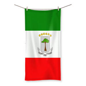 Flagof Equatorial Guinea Beach Towel Homeware Flagdesignproducts.com