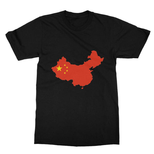 China Continent Flag Softstyle Ringspun T-Shirt Apparel Flagdesignproducts.com