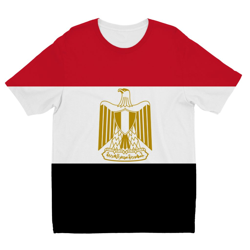 Basic Egypt Flag Kids Sublimation T-Shirt Apparel Flagdesignproducts.com