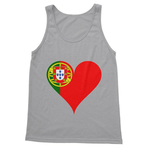 Portugal Heart Flag Softstyle Tank Top Apparel Flagdesignproducts.com