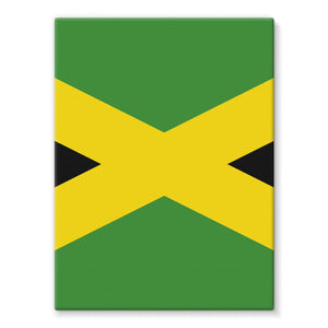 National Flag Of Jamaica Stretched Eco-Canvas Wall Decor Flagdesignproducts.com
