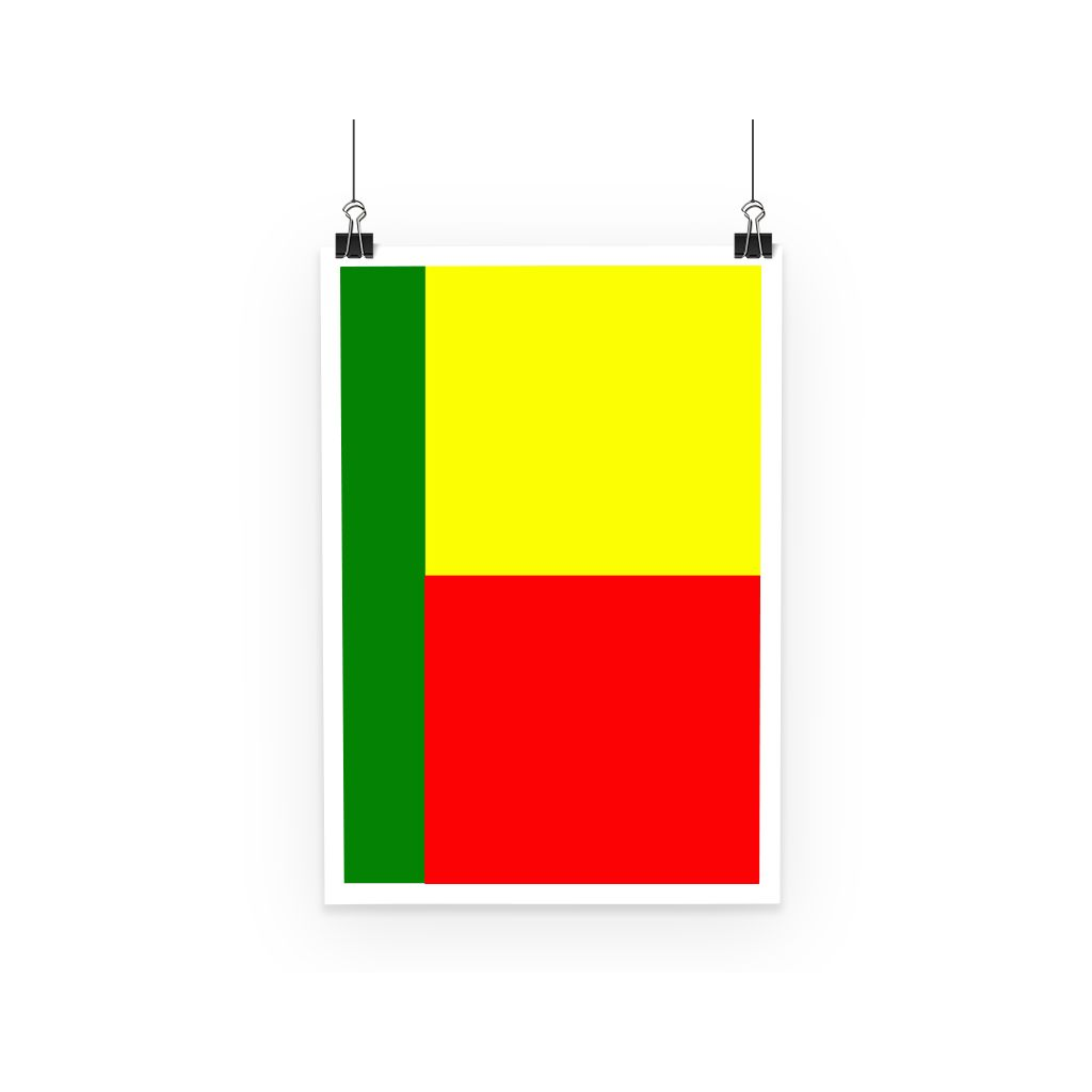 Flag Of Benin Poster Wall Decor Flagdesignproducts.com