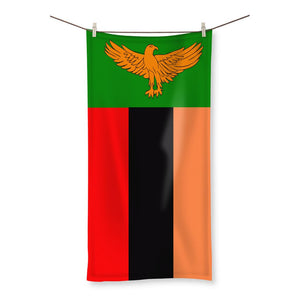 Flag Of Zambia Beach Towel Homeware Flagdesignproducts.com