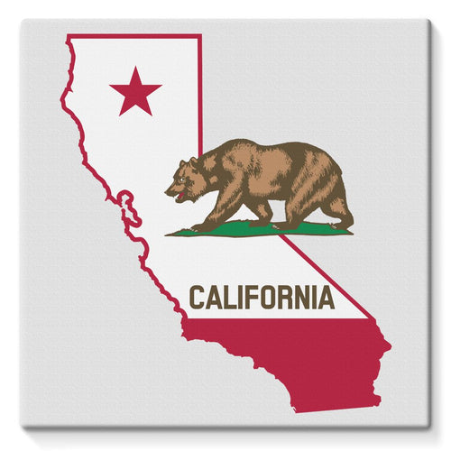 California State Flag Stretched Eco-Canvas Wall Decor Flagdesignproducts.com