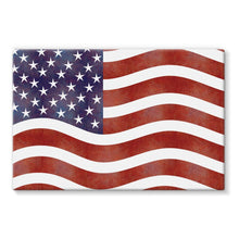 Waving Old Usa Flag Stretched Canvas Wall Decor Flagdesignproducts.com