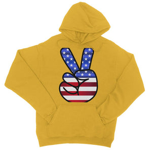 America Fingers Flag College Hoodie Apparel Flagdesignproducts.com